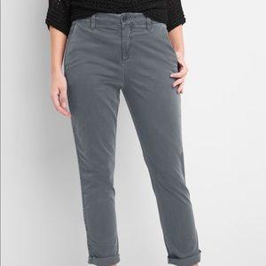 Gap Girlfriend Twill Stripe Khakis - New w/ tags